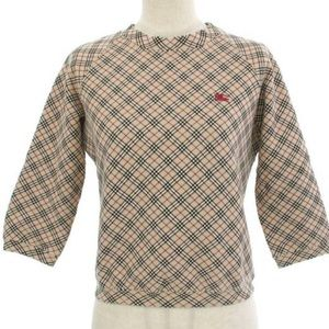 Auth Burberry Brit Checkers Plaid Vintage Top